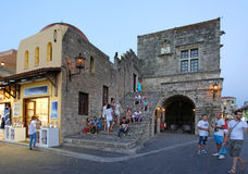 Rhodes old town in the evening. Greece Royalty Free Stock Photos