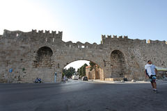 Rhodes Old Town fortress. Greece Stock Images