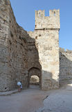 Rhodes Old Town fortress. Greece Stock Photography