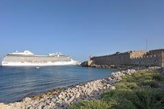 Rhodes Old Town Mandraki harbour. Greece Royalty Free Stock Photos