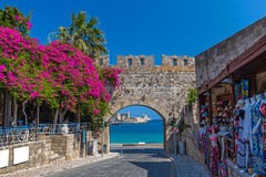 Rhodes old town. Medieval city of Rhodes, Greece Royalty Free Stock Photography