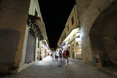 Rhodes Old town by night. Greece Royalty Free Stock Image