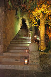 Rhodes old town by night, Greece Royalty Free Stock Photography