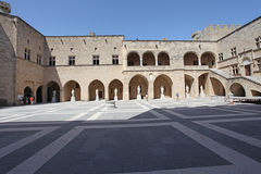Rhodes Old Town, the Palace of Grand MAsters. Greece Royalty Free Stock Photography