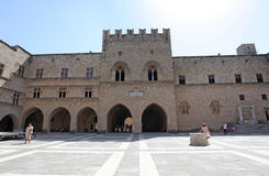 Rhodes Old Town, the Palace of Grand MAsters. Greece Stock Images