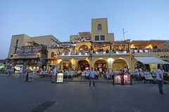 Rhodes Old town shopping by night. Greece Stock Photography