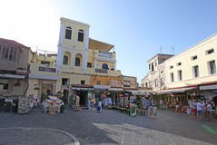 Rhodes Old Town streets. Greece Stock Photography