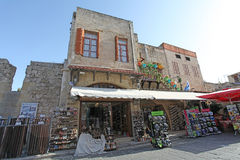 Rhodes Old Town streets. Greece Stock Photos