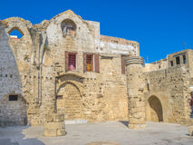 Rhodes old town on sunny day Stock Photos