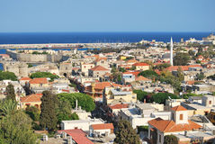 Free Rhodes. Panorama Of Old Town Stock Photo - 20938460