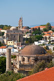Rhodes. Panorama of old town Stock Photos