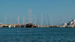 Rhodes port stock footage