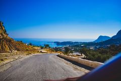 Rhodes on the road royalty free stock images
