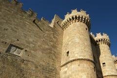 Rhodes rockerar medeltida riddare (slotten), Grekland Arkivfoton