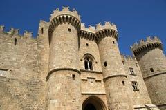 Rhodes rockerar medeltida riddare (slotten), Grekland Royaltyfri Foto