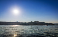 Rhodes rocky coast - view from boat Stock Photography