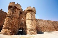 Rhodes rycerzy Uroczystego mistrza sławny pałac, Grecja Zdjęcia Stock