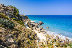 Rhodes sea coast Royalty Free Stock Photography