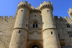 Rhodes stärkte citadellen Royaltyfria Bilder