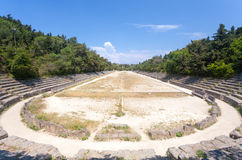 Rhodes Stadium. The Stadium at the Acropolis of Rhodes, Rhodes Town Greece royalty free stock images