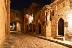 Rhodes, Stary miasteczko Zdjęcia Stock