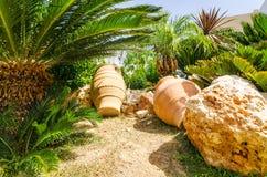 Rhodes summer garden Royalty Free Stock Photos