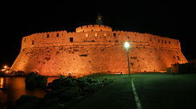 Rhodes Tower of St. Nicholas, Greece Royalty Free Stock Images