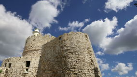 Rhodes Tower of St. Nicholas, Greece time lapse stock footage