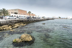 Rhodes town Harbour harbor Mandraki Port Royalty Free Stock Photography