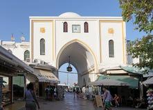 Rhodes town New Market. Greece Stock Photos