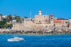 Rhodes town. Rhodes, Greece Royalty Free Stock Photos