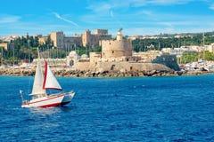Rhodes Town Rhodes Grekland Royaltyfri Bild