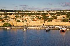 Rhodes väggar Royaltyfri Bild