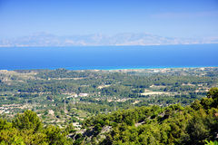 Rhodes view from hills Stock Images