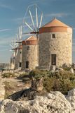 Rhodes Windmill Cats immagine stock