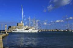 Rhodes wyspy port Obrazy Royalty Free