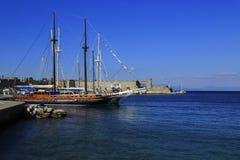 Rhodes wyspy port Obraz Royalty Free