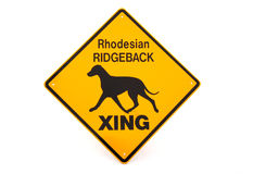 Rhodesian Ridgeback sign Stock Photography