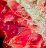 Rhodochrosite. Natural rhodochrosite in the Vernadsky Sate Geological Museum in Moscow Royalty Free Stock Photo
