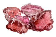 Rhodolite garnet crystals Royalty Free Stock Images