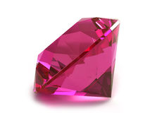 Rhodolite or Ruby gemstone Royalty Free Stock Photo
