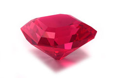 Rhodolite or Ruby gemstone Royalty Free Stock Images