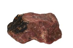 Rhodonite mineral isolated Stock Photography