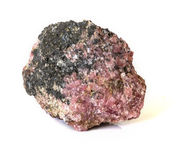 Rhodonite mineral Stock Images