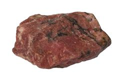 Rhodonite mineral isolated Royalty Free Stock Photo