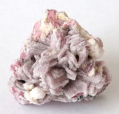 Rhodonite crystals covered in Quartz Stock Photos