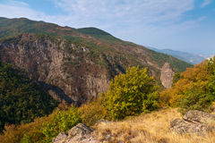 Rhodope山在秋天 库存照片