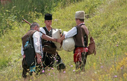 Rhodope bagpipers Stock Photos