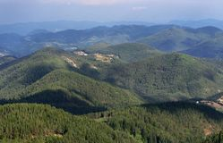 Rhodope Berge, Bulgarien Stockfotografie