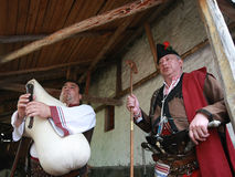 Rhodope pipers playing Royalty Free Stock Photography